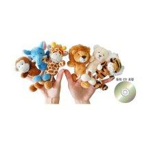 손가락인형 야생동물 6종+이야기 CD_W1FA41D