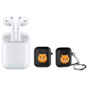 에어팟 Air Pods [애플정품] + 에어팟 키링 케이스 라이언 [블랙]