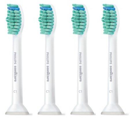음파진동 전용 칫솔모(4개) HX-6014 HX6014/05 [프라그 제거효과 / 치주염,충치,치은염 예방]