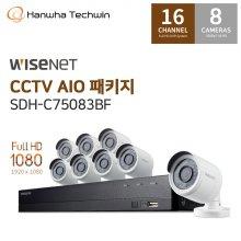 [L.POINT 20,000점증정][미니언즈CCTV증정] 자가설치 16채널 8캠 CCTV세트 SDH-C75083BF