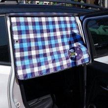 카렉스 뉴클레오 자석암막 햇빛가리개(체크)   차량용