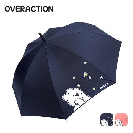 오버액션토끼 반짝반짝 장우산 HUGWU10001 네이비