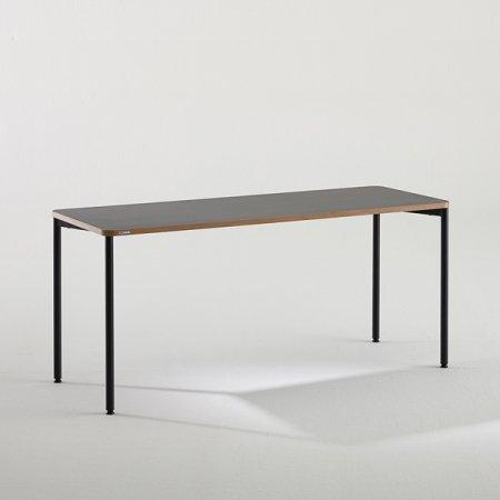 일자형 책상 BDB116 (1600X600) 라이트우드:블랙