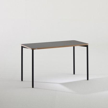 일자형 책상 BDB112 (1200X600) 화이트:블랙