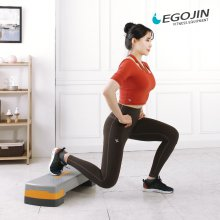 튼튼 스텝박스 2단 계단 운동기구 에어로빅 2단 높이조절(대)그레이