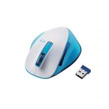 궁극의 그립감 BlueLED 컬러 무선 마우스 화이트블루 M-XG4DBSP-G
