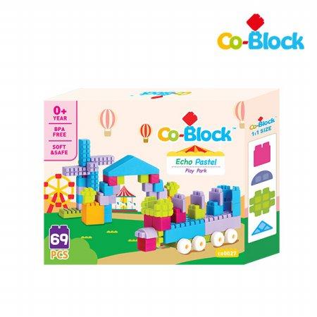 [Co-Block] 에코파스텔코블록 플레이파크 69pcs