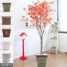 라인-홍단풍나무화분set 210cm (조화) FREOFT 벽면형:빈티지마야우드화분(28cm) 5-5