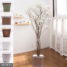 라인-벚꽃나무화분set 210cm (조화) FREOFT 핑크-벽면형:빈티지마야우드화분(28cm) 5-5