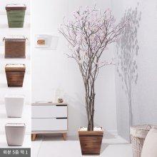 라인-벚꽃나무화분set 240cm (조화) FREOFT 핑크-벽면형:빈티지마야우드화분(28cm) 5-5