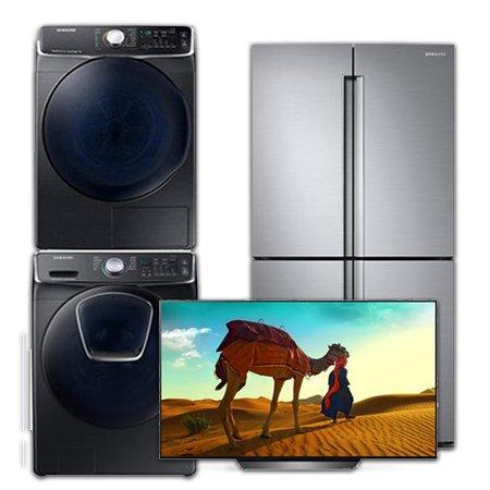 [이사혼수 패키지] 건조기:DV16R8540KV(16KG) + 드럼세탁기:WF21N8750TV(21KG) + UHDTV-OLED(스탠드형):OLED55B8BNA(138cm) + 양문형냉장고:RF85M9112S8(854L)
