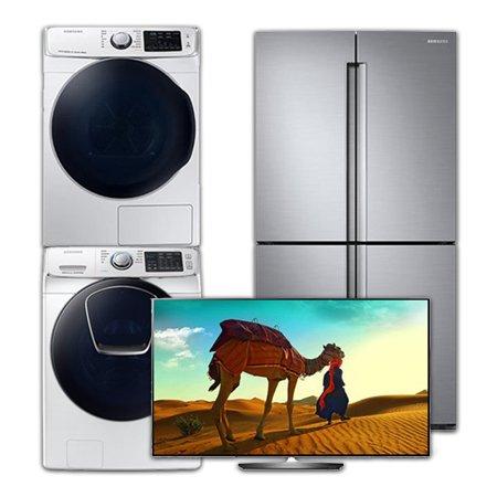 [이사혼수 패키지] 건조기:DV16R8540KW(16KG)  + 드럼세탁기:WF21N8750TW(21KG) + UHDTV-OLED(벽걸이형):OLED65B8CNA(163cm) + 양문형냉장고:RF85M9112S8(854L)