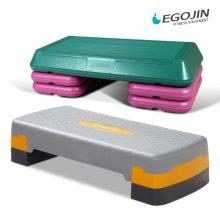 튼튼 스텝박스 2단 3단 지압판 계단 운동기구 2단 높이조절(대)그레이