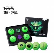 [볼빅] VOLVIK 정품 VAGS 마블 헐크 골프볼 골프공 필드용품 헐크 4구세트