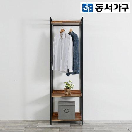 *취향저격 철제 오픈 클로젯  조립식 오픈형 600 1단 행거 옷장 _멀바우