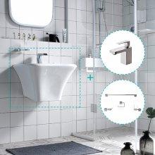 [행사특가]욕실 리모델링 - 로얄미니세트 D (세면기+수전+악세사리4종)