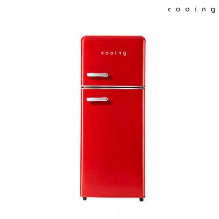 (당일발송) 쿠잉 115L 레트로 에디션 냉장고 (레드) / REF-D121R