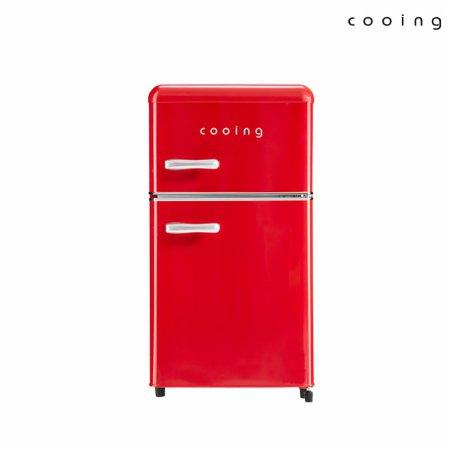 80L 유럽형 스타일리쉬 냉장고 (레드) / REF-D85R