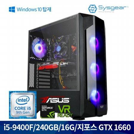 인텔 코어 i5 9세대 9400F + GTX 1660 GT46HW 게이밍PC [Window 포함]