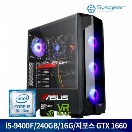 인텔 코어 i5 9세대 9400F + GTX 1660 GT46H 게이밍PC [Window 선택가능]