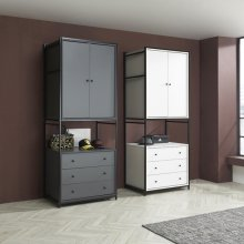 테라 속깊은 시스템 드레스룸 V 840 블랙_화이트