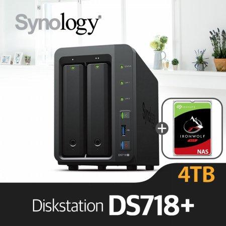 [에이블] DS718+ [시게이트 아이언울프 4TBx2]/NAS전용HDD
