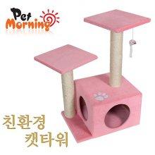 펫모닝 미니 캣타워 (핑크) (PMC-9203-2)(2A11E8)