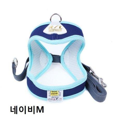 목줄 가슴줄 하네스셋트 네이비 (M) 1 EA(28F408)
