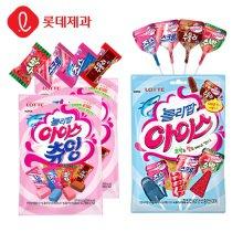 롤리팝아이스 츄잉캔디X5개 + 막대사탕(15개입)X2개