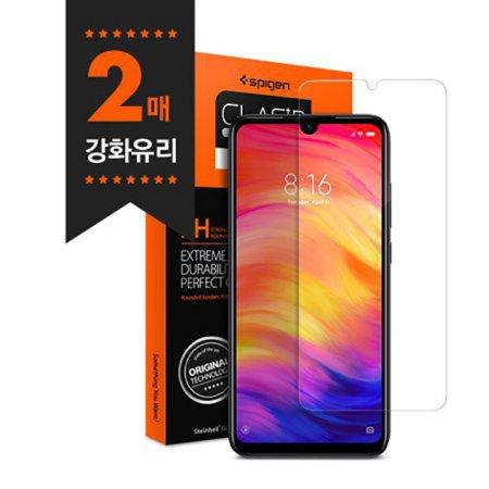 샤오미 홍미노트7 강화유리 글라스tR슬림 2매
