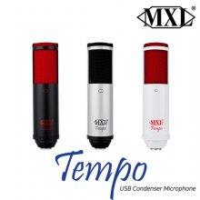 Tempo USB 콘덴서마이크 인터넷 방송용 마이크 화이트/레드