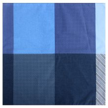 바람개비 면나염 손수건 /44 x 44 (cm) 블루:FREE