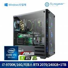 HE782CW i7-9700K+RTX2070 게이밍 컴퓨터