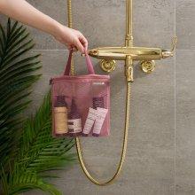 트래블러스 메쉬파우치 슬림 미디움 v.4 욕실용품파우치 [워시백/세면파우치] 01 indi pink