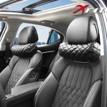 XFIT 가죽 블랙에디션 차량용 목쿠션 소사이즈 1+1