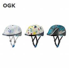 OGK 아동용 헬멧 덕 DUCK 5-12세 _리본도트화이트