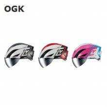 OGK 2019 고글장착 에어로 헬멧 AERO R1 _화이트레드 SM