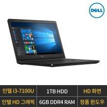 인스피론 15 3567/i3-7100U/인텔VGA/HD/6GB/1TB/W10H