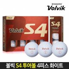 볼빅 정품 S4 투어 골프공 4피스 화이트 골프볼 12알 무료포장