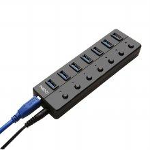 [무료배송쿠폰] 7포트 유전원 USB3.0 허브 개별 스위치 NEXT-707U3