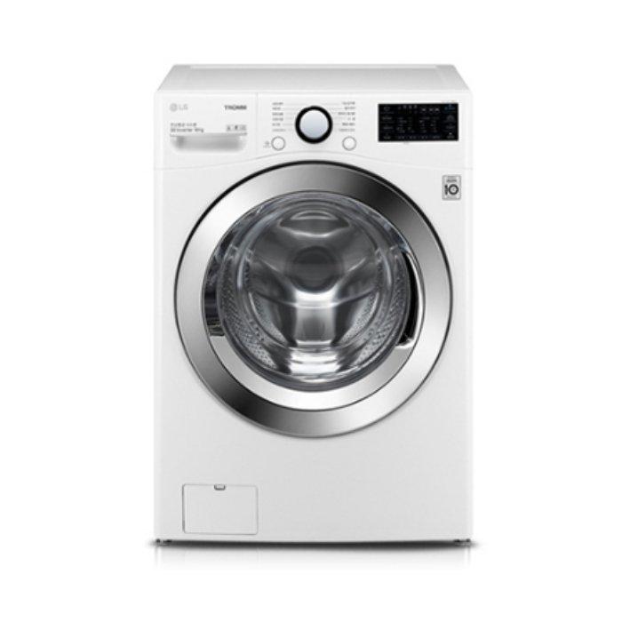 LG전자 드럼세탁기 F18WDAU[18KG/6모션 손빨래/3방향터보샷/스마트씽큐/인버터DD모터/화이트] [하이마트]
