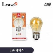 롱 LED 에디슨전구 4W G45 인지구 타입_전구색