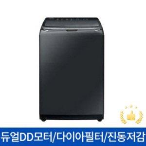 [*상품평 이벤트*] WA18R7650GV 일반세탁기[18KG/듀얼DD모터/무세제 통세척/4중진동저감/미드컨트롤/2세대다이아몬드필터/블랙케비어]
