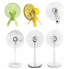 *내일배송* 바람에 컬러를 입힌 미니팬 선풍기 EFN-DB18GN (그린/ 옐로우) [3엽 / 18cm / 2단풍속]
