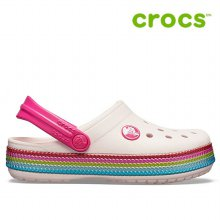 크록스 아동샌달 /P- 205525-6PI / Kids Crocband Sequin Band Clog _C11