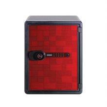 [선일금고] POS-031DBR 레드 내화금고 자동계폐 디지털락