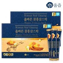 올바른 꿀홍삼스틱 2박스(총60포)