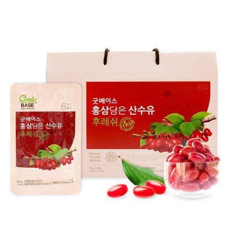 [굿베이스] 홍삼담은 산수유 후레쉬 1박스(50ml*20포)