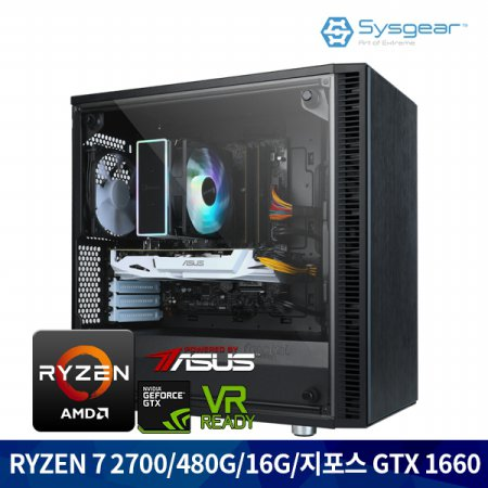 GCA76 라이젠7 2700/RAM16G/GTX1660/SSD480G 게이밍컴퓨터
