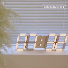 아프리콧크림 LED 벽시계(전선길이 3.3m)